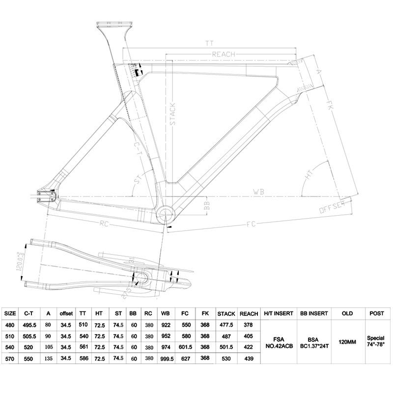 fixie carbon track frame