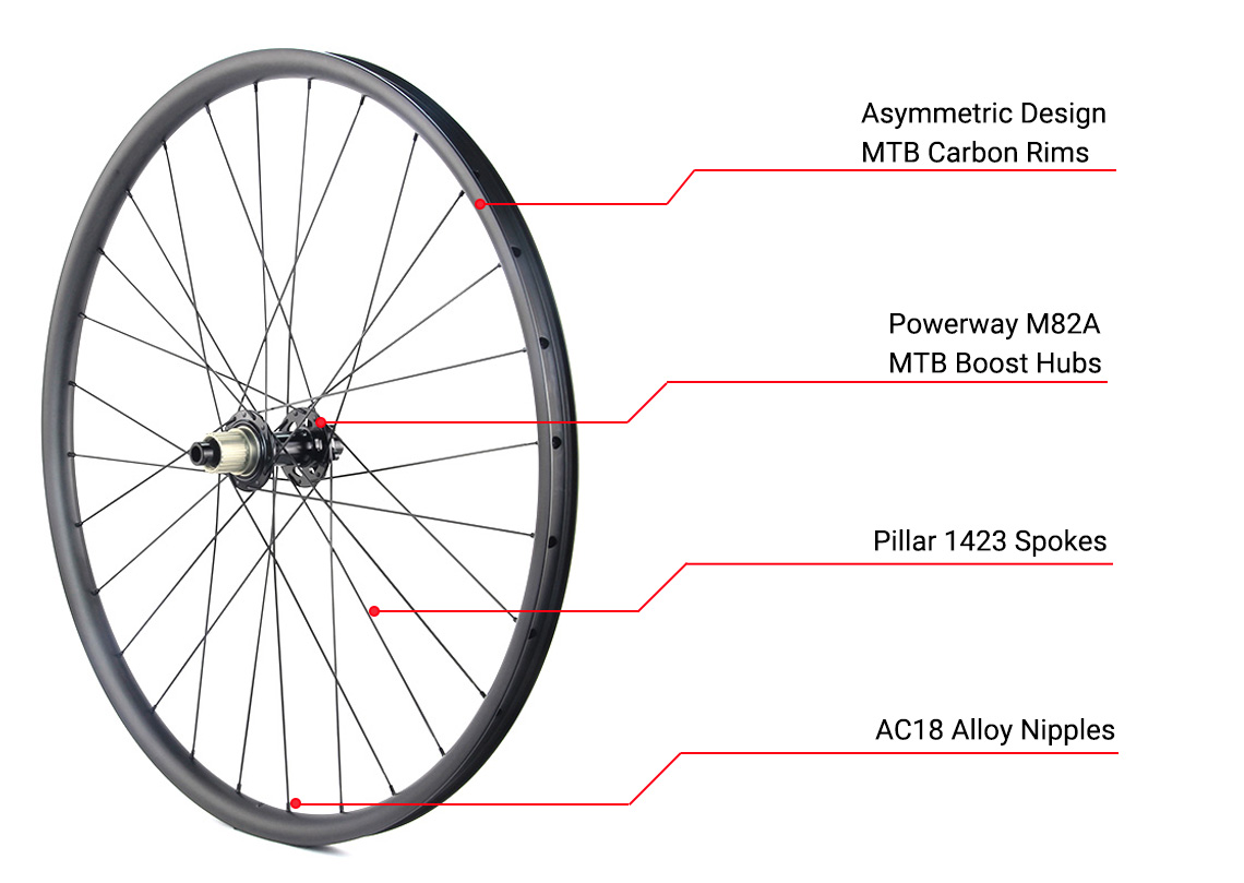 economical MTB carbon wheel with Powerway hubs